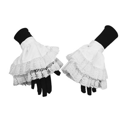 Pietmanchet luxe met kant wit