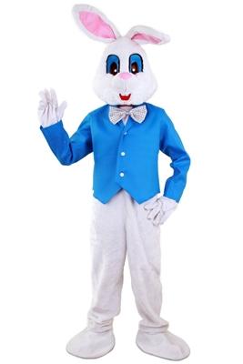 Paashaas Kostuum Pluche Blauw