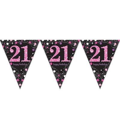 Vlaggenlijn 21 Jaar Sparkling Pink