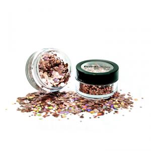 Chunky Glitters Holografisch Rose Goud 3 Gram
