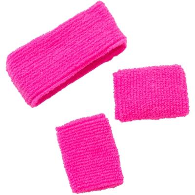Hoofd en Pols Bandjes Set Neon Pink