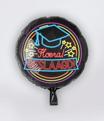 Folie Ballon Geslaagd Neon