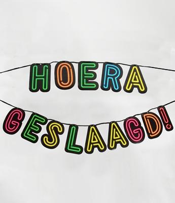 Hoera Geslaagd Letters Neon
