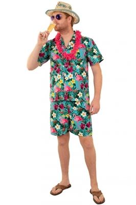 Hawai Shirt Broek Set Heren