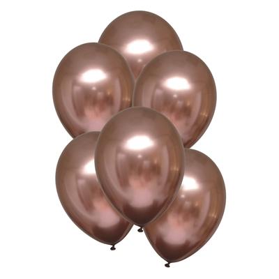 Ballonnen Luxe Satin Rose Copper 28 Cm 10 Stuks