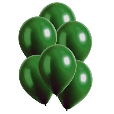 Ballonnen Satin Luxe Groen Emerald 28 Cm 10 Stuks