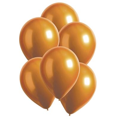 Ballonnen Luxe Satin Amber 28 Cm 10 Stuks