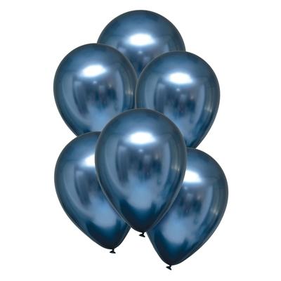 Ballonnen Satin Luxe Blauw Azure 28 Cm 10 Stuks