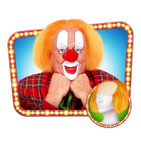 Pruik Clown Bassie oranje